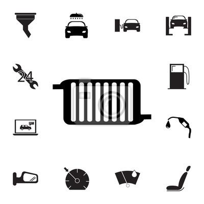 Auto kühler kühlsystem-symbol. satz autoreparaturikonen. zeichen ...