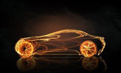 Fototapete Auto-Licht-Symbol
