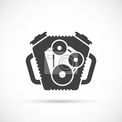 Auto-motor-symbol fototapete • fototapeten Ventil, Kolben ...