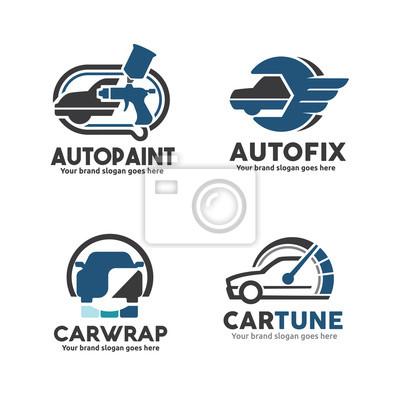 Auto-service-firmenzeichen schablonen-satz, auto-farben ...