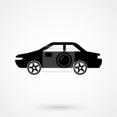 Auto-symbol vektor-illustration. seitenansicht des autos, automobil ...