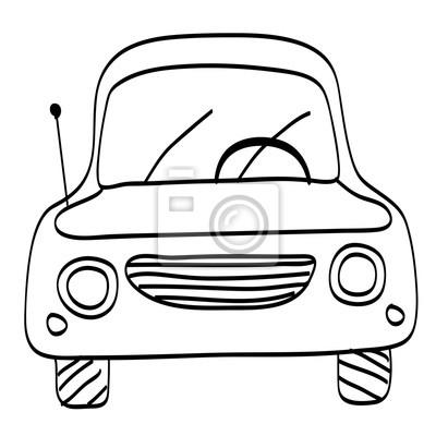 Auto. zeichnung. malvorlage. abbildung. fototapete • fototapeten ...