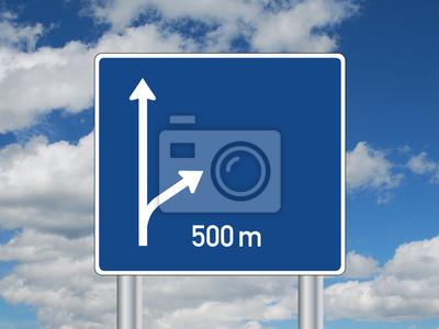 Autobahn Verkehrszeichen Leer Schild Wegweiser Ausfahrt Symbol
