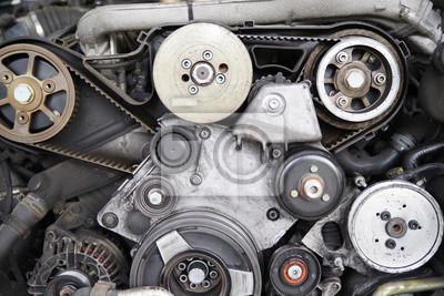 Automotor, reparatur am motor fototapete • fototapeten Zündkerze ...