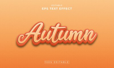 Fototapete Autumn 3d Editable Text Effect Template