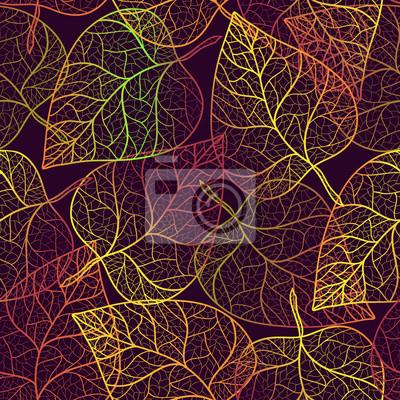 Autumn leaves pattern transparenten Hintergrund.