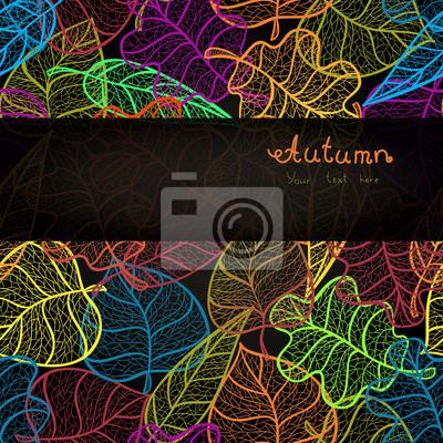 Autumn leaves transparent Muster Hintergrund