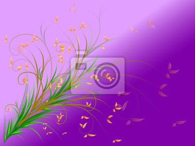 autumn on purple background