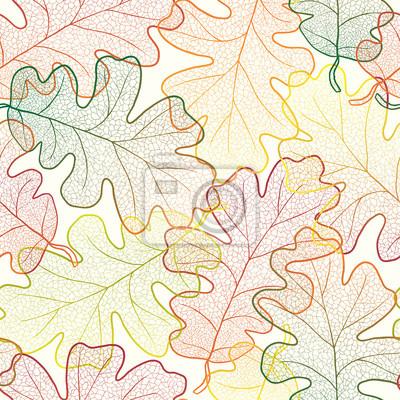 Autumn transparent Ahornblätter Muster nahtlose Hintergrund.