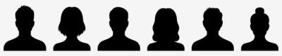 Fototapete Avatar icon. Profile icons set. Male and female avatars. Vector illustration