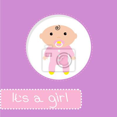 Baby-Dusche-Karte. Es ist ein Mädchen
