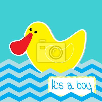 Baby-Dusche-Karte mit lustigen Ente.