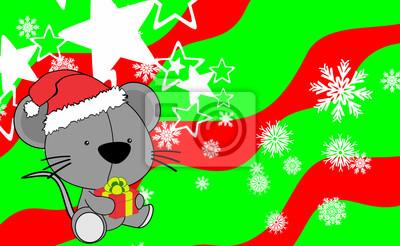 Weihnachten Bilder Bearbeiten.Fototapete Baby Maus Cartoon Weihnachten Hintergrund Im Vektor Format Sehr