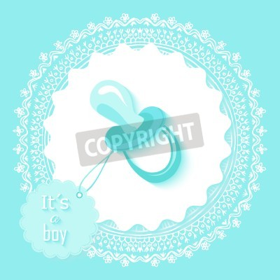 Baby Shower Invitation Card Design With Its A Boy Text And Blue