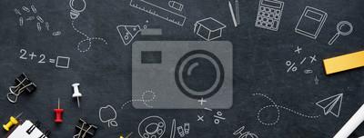 Fototapete Back to school education banner background