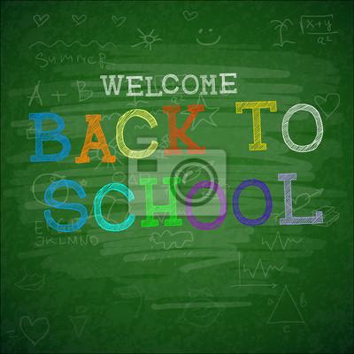 Back to school Hintergrund, Vektor-Illustration.