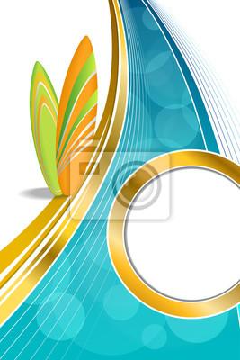 Background Abstract Sea Coast Holidays Design Orange Green