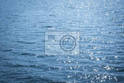 Fototapete Background shot of aqua sea water surface ocean texture