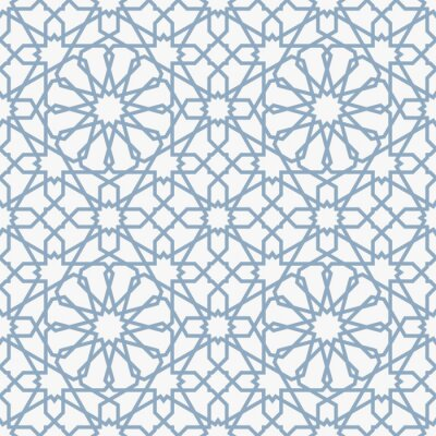 Fototapete Background with seamless pattern in islamic style