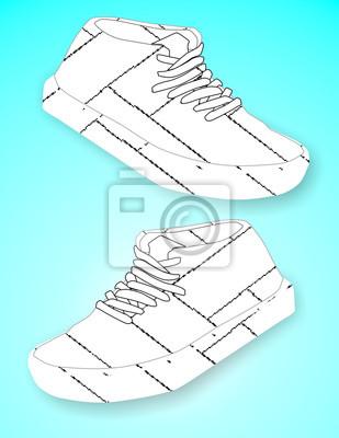 Backstein gerade Schuhe