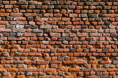 Fototapete Backstein Wand als Textur oder Hintergrund