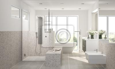 Fototapete: Bad badezimmer luxusbad freistehende wanne