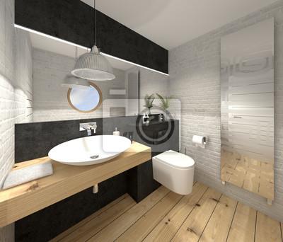 Bad badezimmer wc toilette gäste-wc fototapete • fototapeten ...