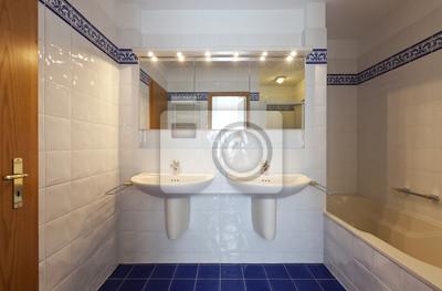 Bad Im Stil Der Klassischen Zwei Waschbecken Fototapete