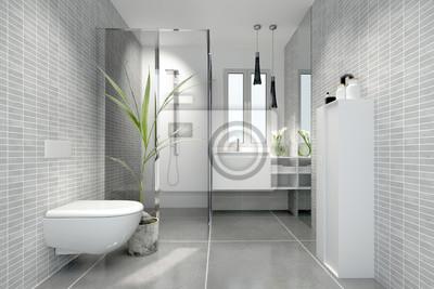 Fototapete: Bad minibad duschbad badezimmer klein kleines