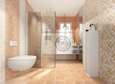 Bad minibad duschbad badezimmer klein kleines fototapete ...