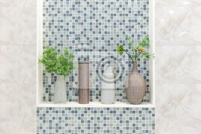Fototapete Bad Toilette Oder WC Natur Dekoration Mit Keramik Glasiert  Fliesen, Saubere Moderne Haus.