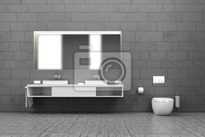 Badezimmer, bad, wc, innenraum, interieur, wohnen fototapete ...