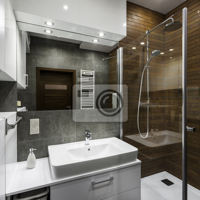 Badezimmer im skandinavischen stil fototapete • fototapeten privies ...