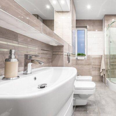 Fototapete Badezimmer Mit Beige Fliesen