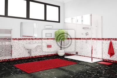 Genial Fototapete Badezimmer Mit Farbkonzept