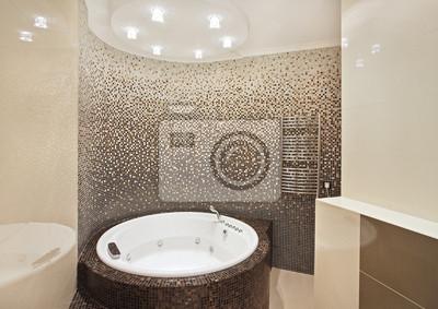 Badezimmer Mit Jacuzzi Und Mosaik Fototapete Fototapeten Jacuzzi