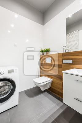 Badezimmer mit waschmaschine fototapete • fototapeten privies ...