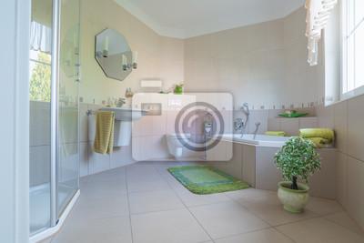 Badezimmer, modern fototapete • fototapeten appartment, Duschen ...