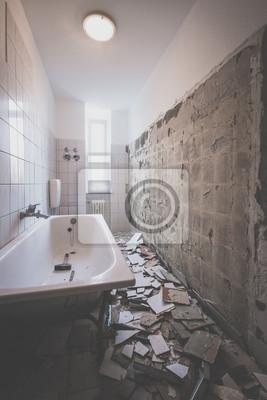 Badezimmer renovierung fototapete • fototapeten privies, in Gips ...