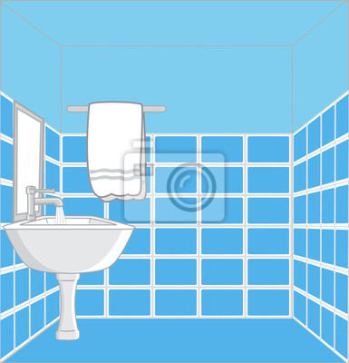 Badezimmer Waschbecken Vektor Design Fototapete Fototapeten Tippen