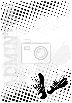 Badminton dots poster background
