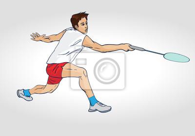 Badminton: Ein Profi-Badminton-Spieler