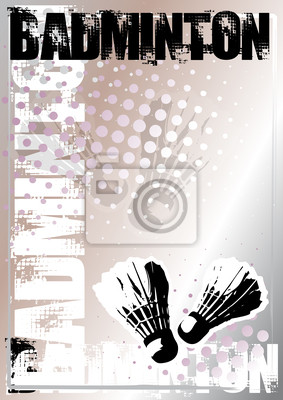 Badminton Silber Poster Hintergrund