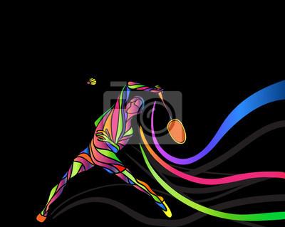 Badminton sport invitation poster or flyer background