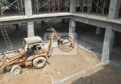 Bagger Maschine Ist Schwere Bau Maschine Verwendet Aushub Boden