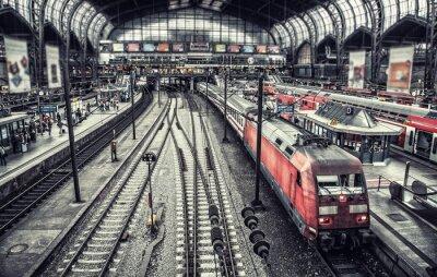 Fototapete Bahnhof