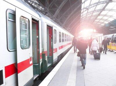 Fototapete Bahnhofsverkehr