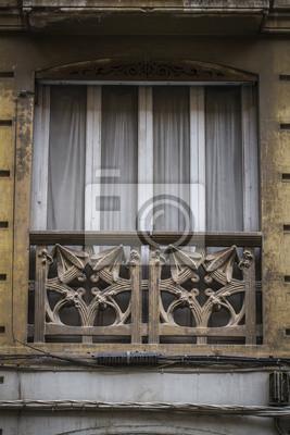 Mediterrane Architektur balkon spanische stadt valencia mediterrane architektur fototapete