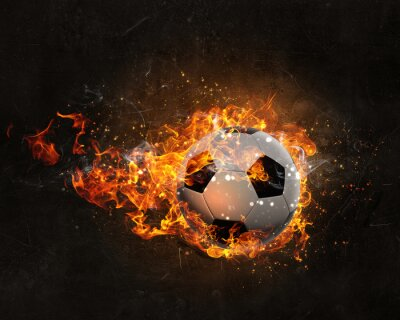 Fototapete Ball brennen im Feuer