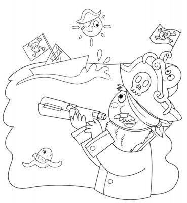 Fototapete Bambino vestito da pirata